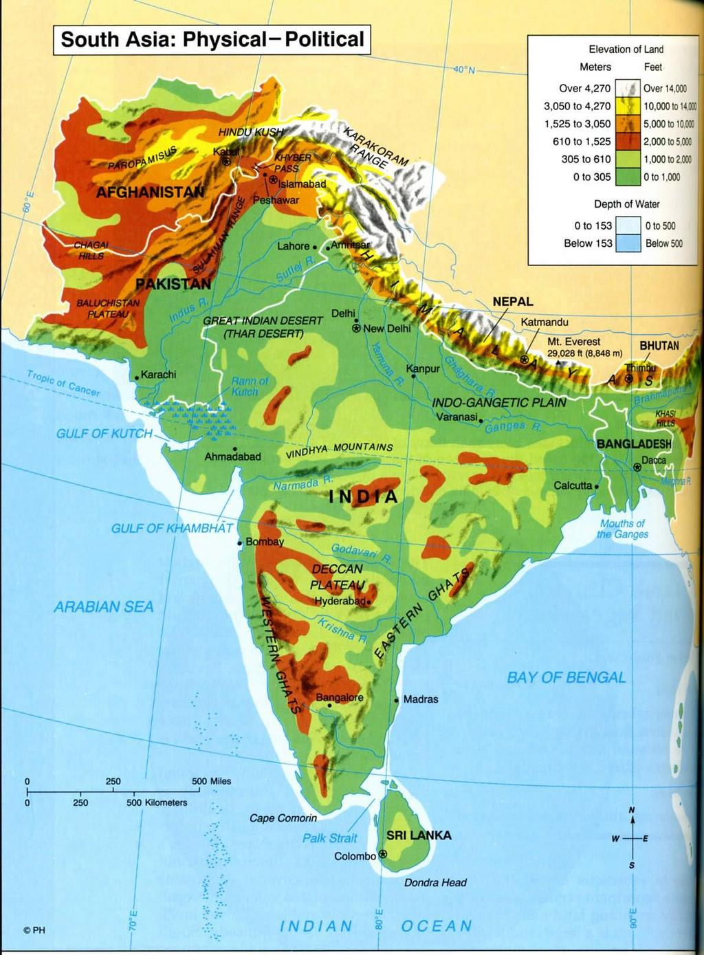 Geography Deccan Plateau, dry, sparsely populated