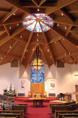 A Central Focus to Worship In shape, form, and artistic elements, the Worship Room reflects the VBC congregation s belief that worship is a dynamic act in which both clergy and congregation
