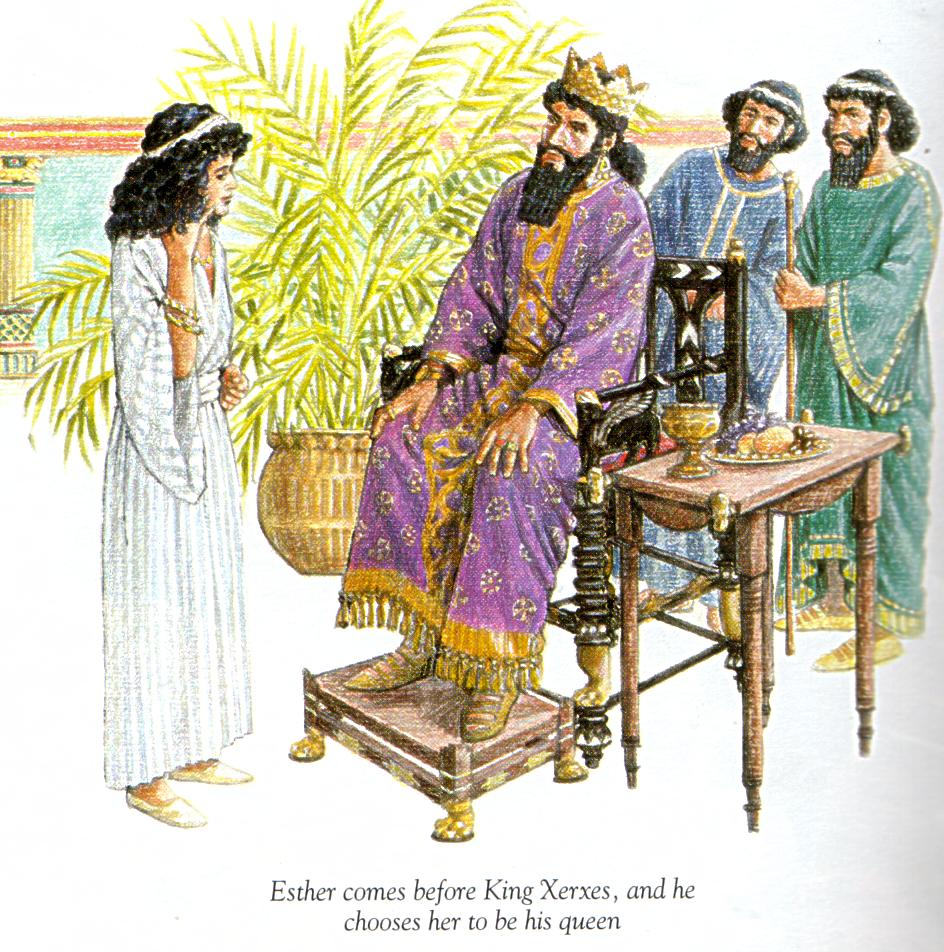 www.bibletoday4kids.com sther was an orphaned Jewish girl living in Persia with her cousin Mordecai and the rest of the Israelites who had been taken from their homeland to Persia.