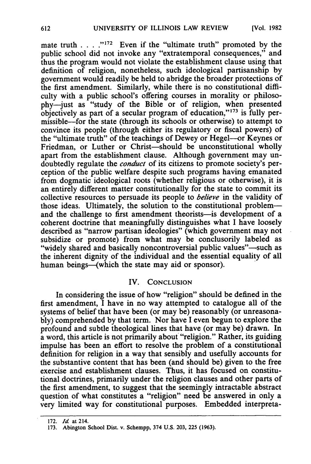 UNIVERSITY OF ILLINOIS LAW REVIEW [Vol. 1982 mate truth.