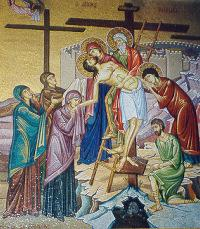 Station #13 Jesus is taken down from the cross. Who will take me down from my Cross of sufferings? Dying to all that is sinful in me, will I have loved ones to care about me and to give me rest? Yes!