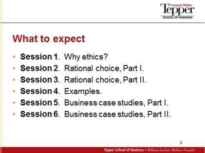 Transcript with Slides Introduction Welcome to this tutorial in business ethics. I m John Hooker, and I m on the faculty of the Tepper School of Business at Carnegie Mellon University.
