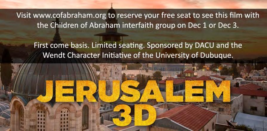 Jerusalem 3D: Free Movie on Tues, Dec 1. 7pm or Thur, Dec 3.