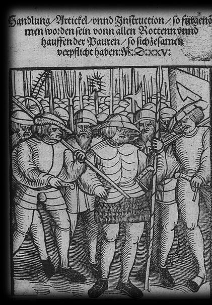 German Peasants Revolt 1524-1525 Twelve Articles, 1525:German peasants demanded an end of serfdom and tithes, and other practices of feudalism that oppressed the peasantry (e.g. hunting rights).