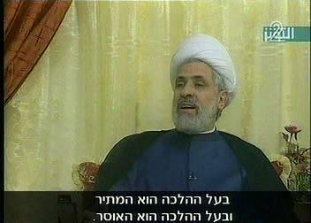 April 29, 2007 Intelligence and Terrorism Information Center at the Israel Intelligence Heritage & Commemoration Center (IICC) In an interview granted to an Iranian TV channel, Sheikh Naim Qassem,