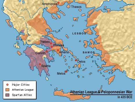 For decades after the Persian Wars, tension built between Athens and its allies and Sparta and it allies.