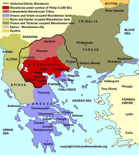 The Rise of Macedonia The Macedonians were a primitive people from the north of Greece. Philip II took the throne in 359 BCE, and reorganized the Macedonian army.