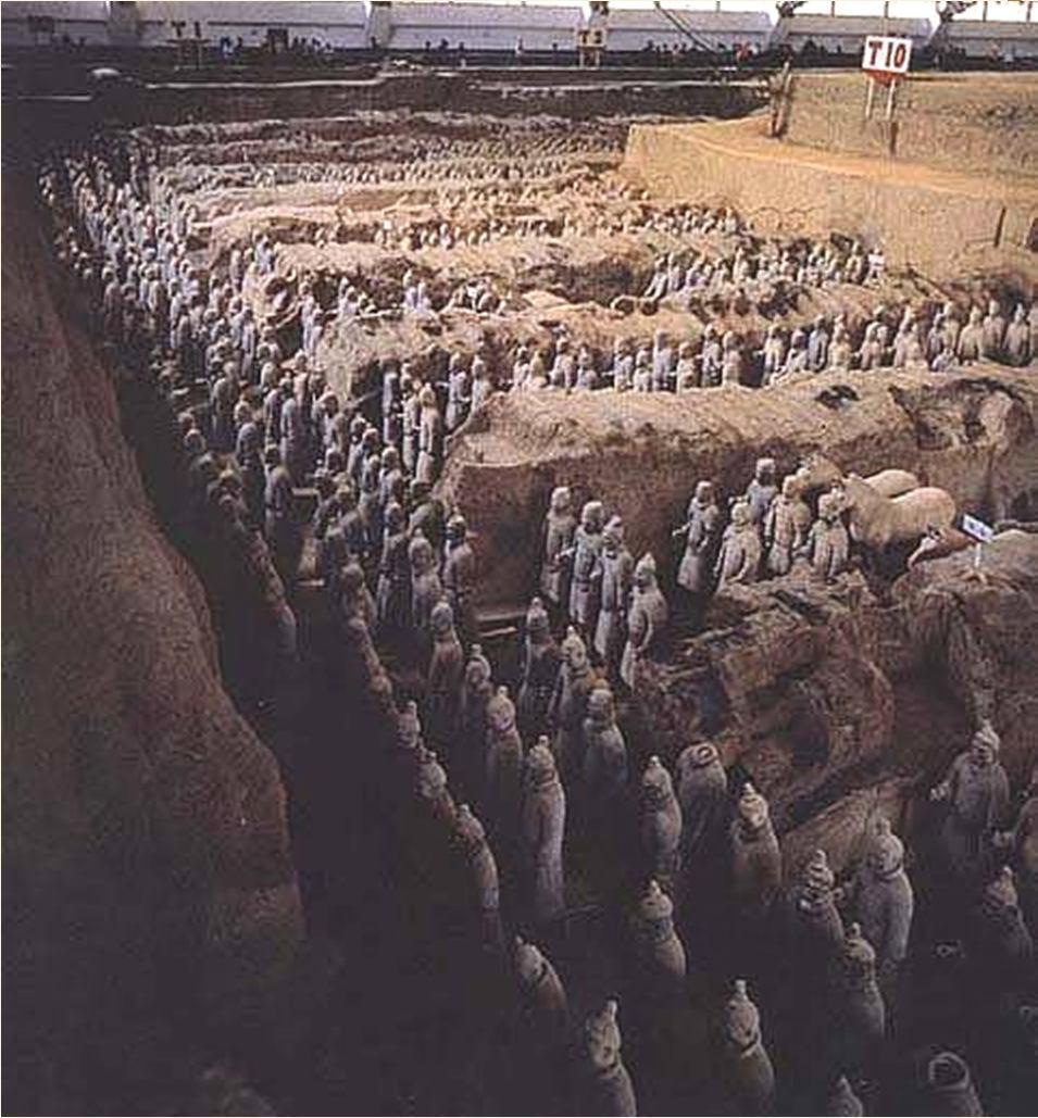 Shi Huangdi s Terra Cotta Army Discovered in 1974 - the