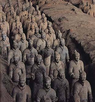 immortality had artisans create a life-size army with