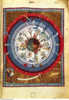 9.1 Hildegard of Bingen, Vision of God s Plan for the Seasons, from De operatione Dei, 1163-1174 The Morality Play: Everyman Links liturgical and secular drama Allegorical, moralistic Instructs for
