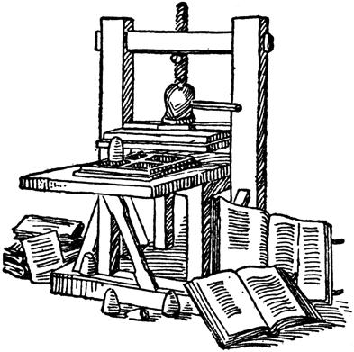 Gutenberg Printing Press Led to the growth of literacy and the princng of
