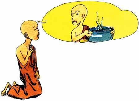 The Buddha and Rahula No lying Rahula, the only son of the Buddha, became a monk. He was the youngest in the Sangha. All the monks loved and spoiled him. Rahula did whatever he liked.