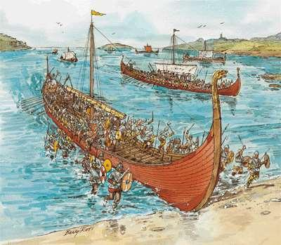 Sweden). Vikings worshiped warlike gods and became fierce warriors who raided Western Europe with terrifying speed.