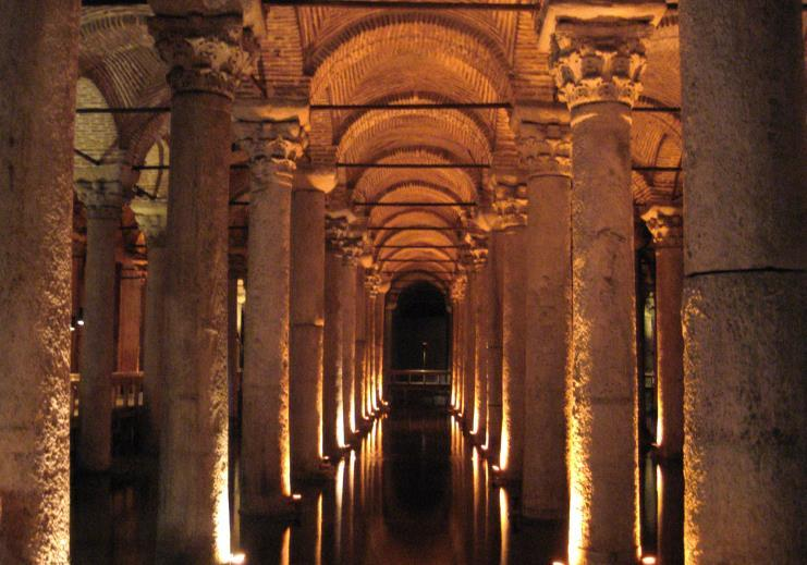 Visual Evidence A Cisterns and Aqueducts A remaining section of the aqueduct built by Emperor Valens in 4th century Constantinople. Source: https://commons.wikimedia.