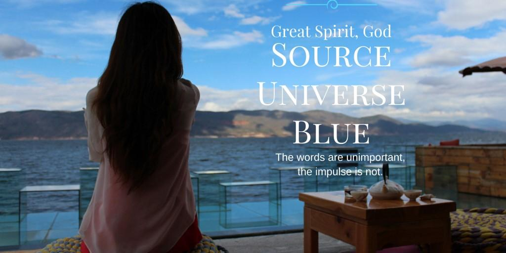 Once when spending a weekend meditating with the Ishaya monks, I heard a woman use the word BLUE when speaking of a
