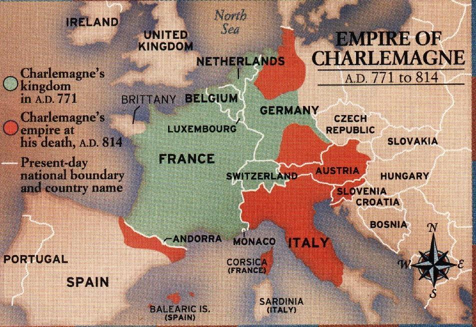 Charlemagne's Legacy: He extended Christianity across Europe This included areas controlled by people the Romans considered barbarians The