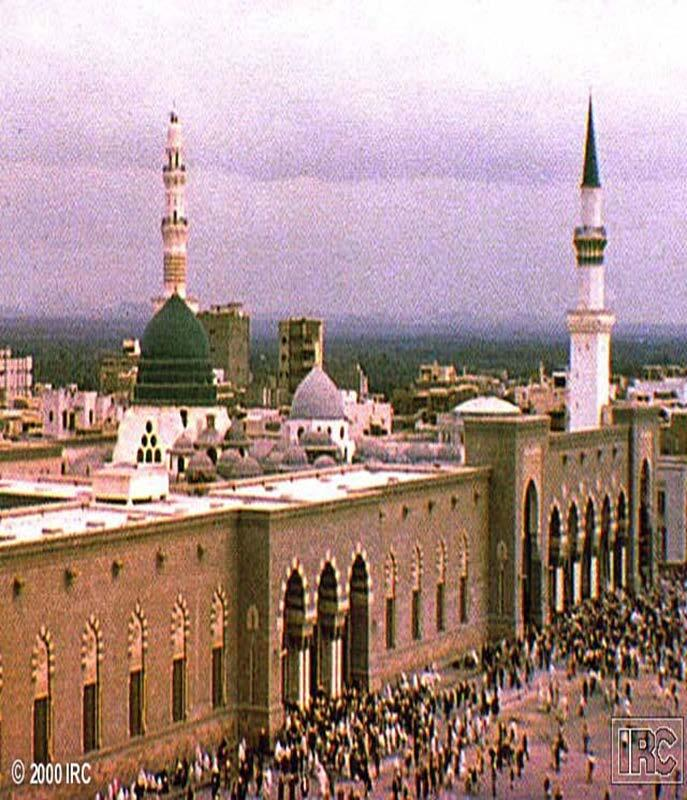 Mausoleum in Medina Muhammad was buried in Medina in his second wife s house The Mosque of the Prophet was built