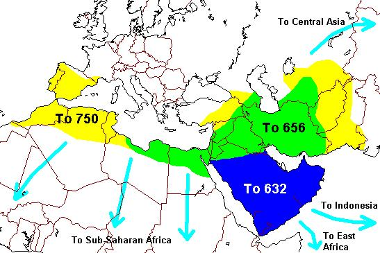 Picking Muhammad s Successor Outcome: Islam spread from a small part of the Arabian peninsula when Muhammad