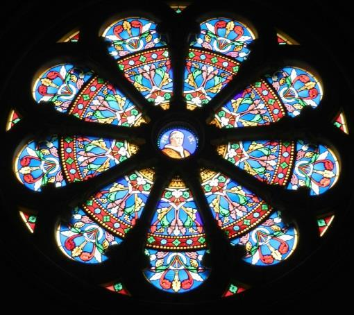 The stained glass-windows From 1862, the church has new windows, in the Chapels of