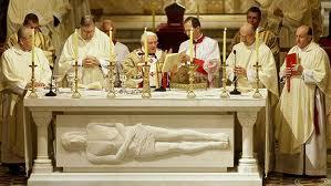 the Eucharist The Catechism notes that the Eucharistic table