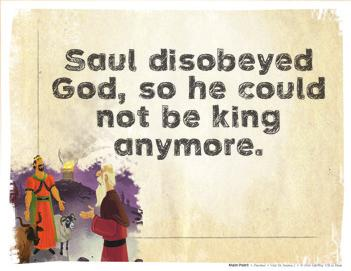 Saul, what are you doing? Samuel asked. You were not here, and the soldiers started to leave. I asked God for help to fight the Philistines, Saul said.