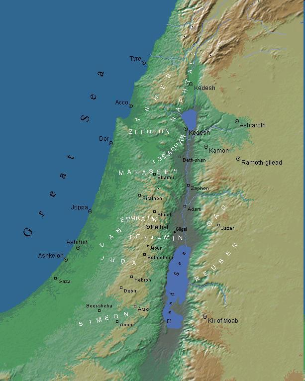 The book of Maps Elijah and the prophets of Baal on Mount Carmel