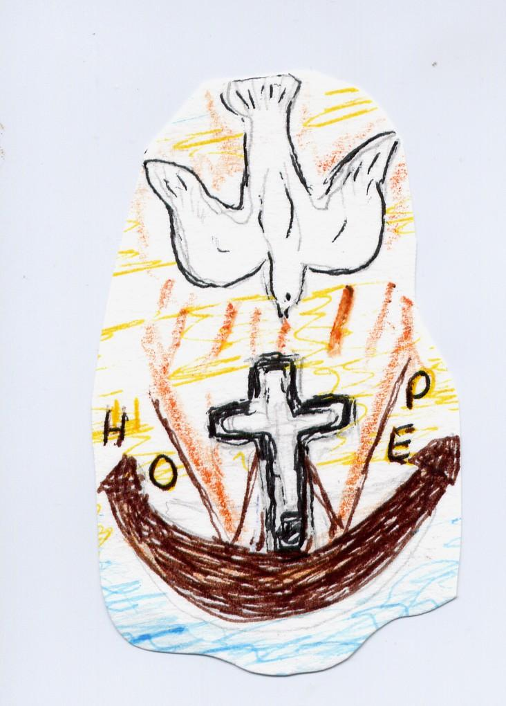 Holy Spirit, Renew the hearts of your faithful. Enkindle again the fire of your love. Encircle us with your grace.