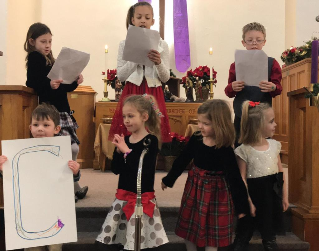 The Messenger 4 Sunday School Update Thanks to all who shared their talents and messages for the
