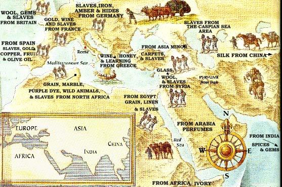 The expansion of the Roman Empire called for a network of roads