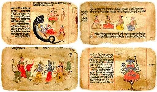 The Vedas Priests called Brahmins collected
