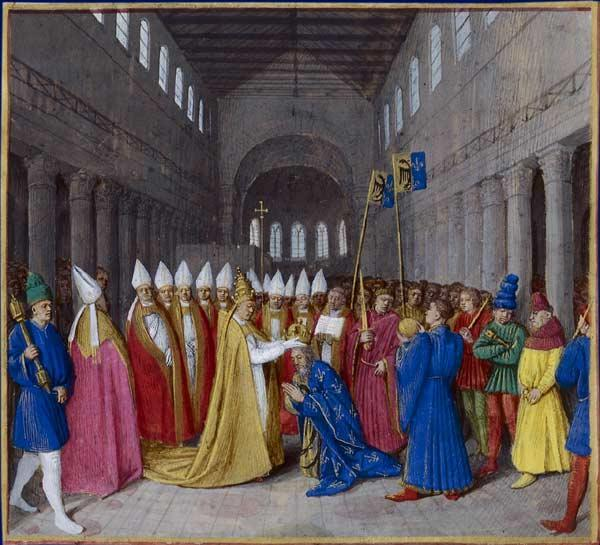 800: Charlemagne is crowned Holy Roman Emperor by Pope Leo III 1 st Roman Emperor since 476 Symbolized the emergence of the Middle Ages