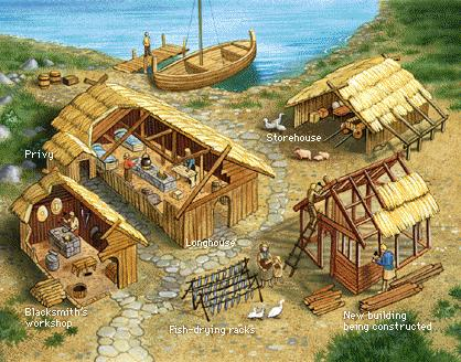 Vikings established inland bases