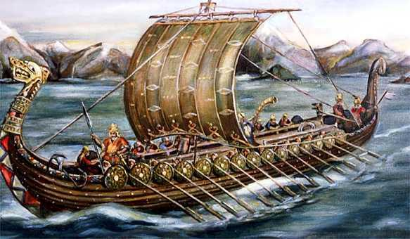Viking long ships were narrow & fierce Enabled