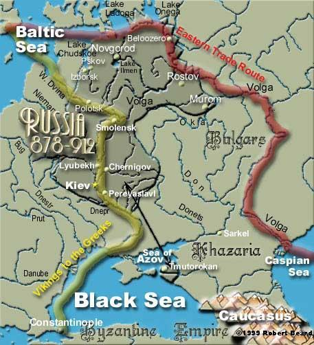 Late 8 th Century: Vikings attacked Slavic villages south of the Baltic Sea Kievan Rus Vikings dominated the area