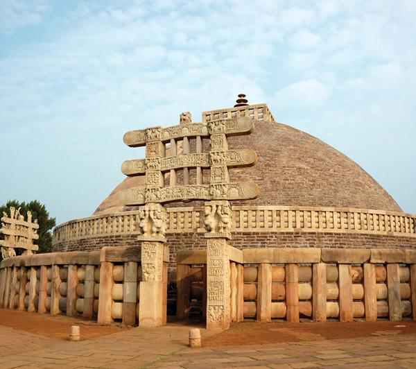 Kaetana//Shutterstock King Ashoka originally built this dome-shaped structure, called a stupa, to hold sacred objects associated with