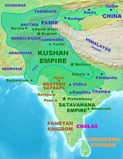 Kushān Empire After the fall of the Mauryan Empire, new