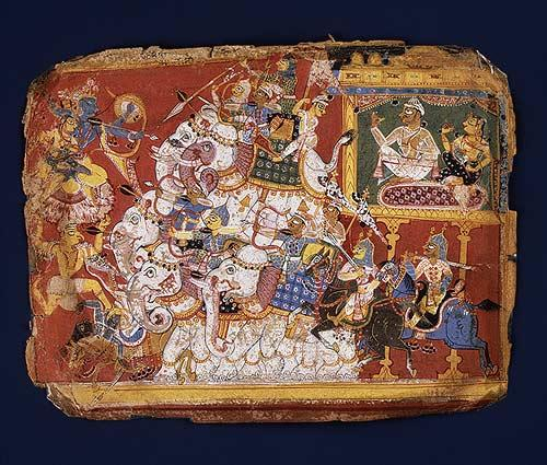 Krishna Battles the Armies of the Demon Naraka: Page from a Dispersed