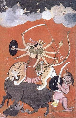 Unknown to Vedic literature, Durga, appears in the middle ages.