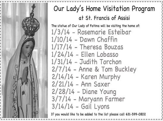 July 5, 2015 7 Our Lady s Home Visitation Program At St.