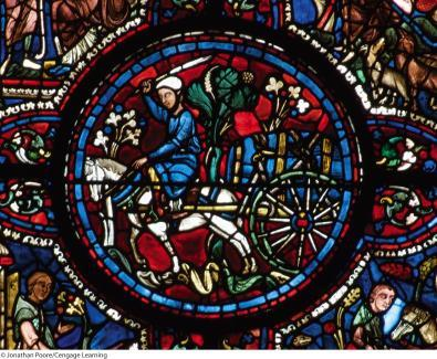 10.15 Vintner s window, glass roundel, Chartres Cathedral,