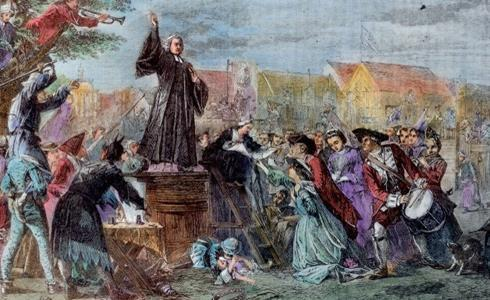 Powerful evangelists from England helped spread the revival: Jonathan Edwards a Congregationalist who was a deeply orthodox Puritan but a highly original theologian attacked the new doctrine of easy