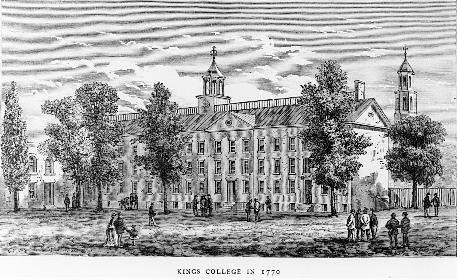 Education: Kings College in New York later renamed Columbia University was even more devoted to spreading secular knowledge.