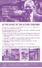 RESOURCES FOR THE AT THE HEART OF THE ACTION CAMPAIGN At the Heart of the Action poster The words at the heart of are featured in the slogans that appear on the posters for the three campaigns that