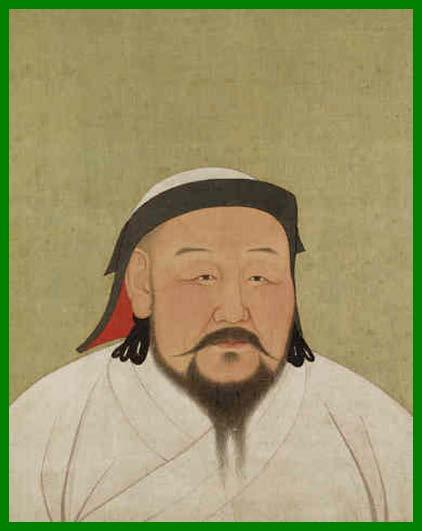 Kublai Khan Kublai was Genghis Khan s grandson He learned a lot from his grandfather before Genghis died Ögedei Khan