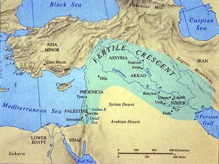 Mesopotamia Land between two rivers (Tigris and Euphrates), which yearly