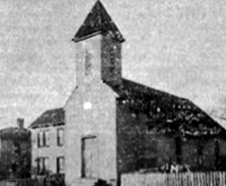 Deed records indicate that James Taylor and wife sold the lot to the church on July 9, 1869. In 1922, they sold their church to the Church of God and held services on land on East Main Street.