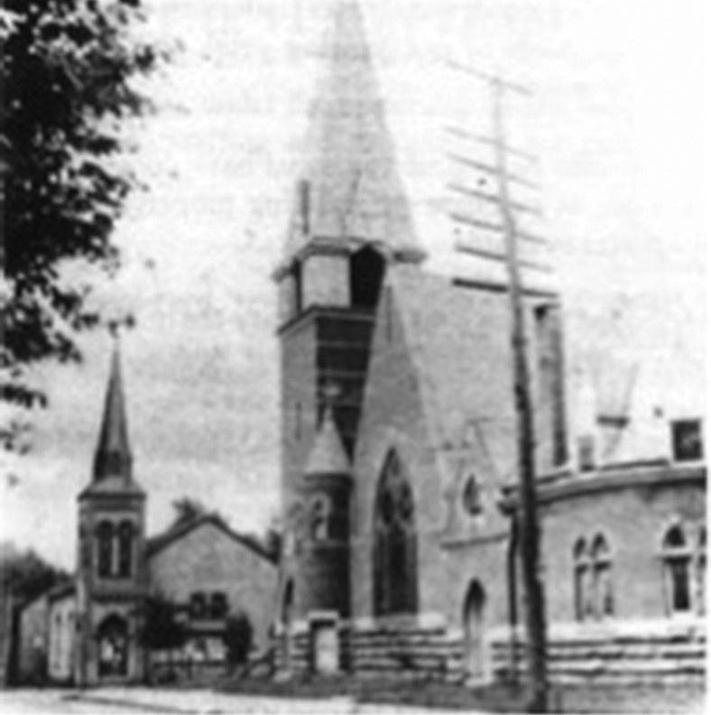 ter the original log church. The dedication of the Romanesque styled church at Third and Walnut Streets was held on August 28, 1892.