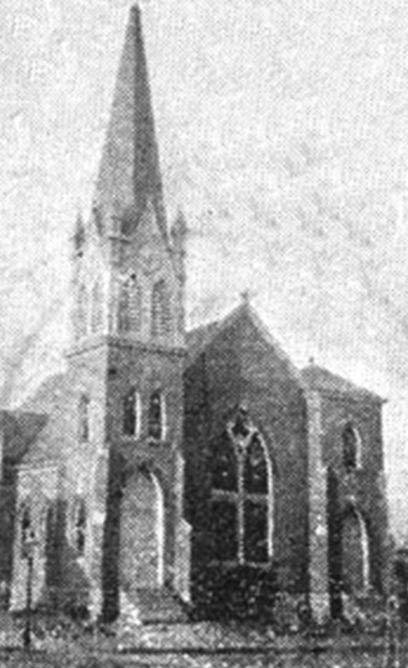 Between the two doors was the pulpit and a rear balcony was built for use by slaves. In August of 1881, a fire destroyed the brick church building.