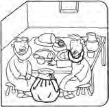 Lesson 7 Important: Put the StoryBoard away and out of reach of children. Panel 3 Hold up Panel 3. Say: Jesus and Zacchaeus are at Zacchaeus house having dinner. They re eating delicious fruit.