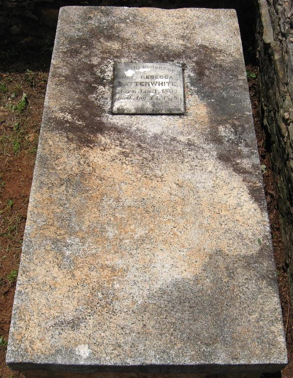 William Thomas Satterwhite was buried soon after in the family plot in Pine Mountain, Georgia in Troup County at Flat Shoals Primitive Baptist Church Cemetery John Satterwhite brother of Elijah died
